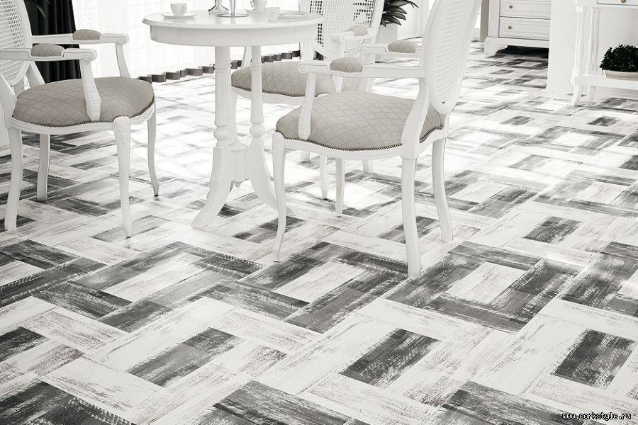 Пробковое Покрытие Corkstyle Print Cork Time Parquet Force